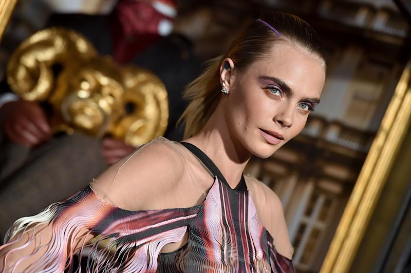 "HOLLYWOOD, CALIFORNIA - AUGUST 21: Cara Delevingne attends the LA Premiere of Amazon's ""Carnival Row"" at TCL Chinese Theatre on August 21, 2019 in Hollywood, California. (Photo by Axelle/Bauer-Griffin/FilmMagic)"