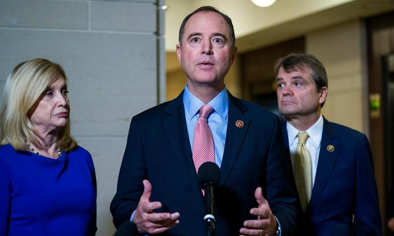 The chairman of the House permanent select committee on intelligence, Adam Schiff, announces the first public hearings of the impeachment inquiry.