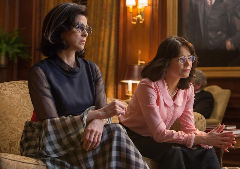 """Sarah Silverman and Emma Stone star in """"Battle of the Sexes."""" (Fox Searchlight)"""