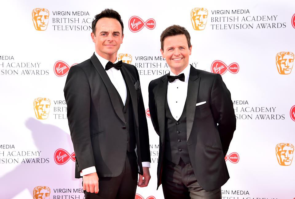 File photo dated 12/05/19 of Anthony McPartlin (left) and Declan Donnelly, whose programme Saturday Night Takeaway will return in February, it has been confirmed. Issue date: Friday January 22, 2021.