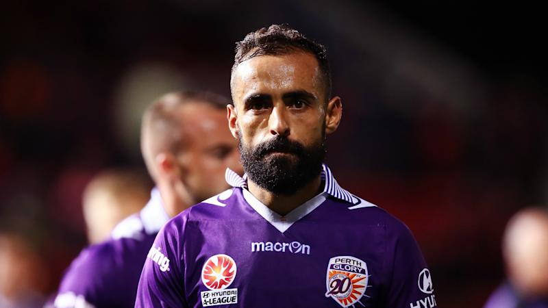 Diego Castro Adelaide United v Perth Glory A-League 31032017