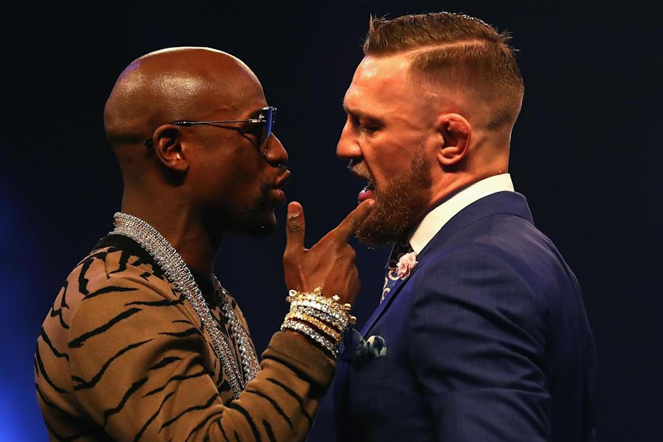 Floyd Mayweather said recently that going the distance would be considered a 'victory' for Conor McGregor. (Getty)
