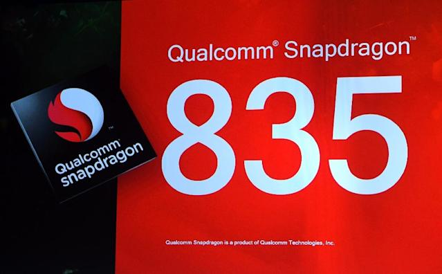 Qualcomm's mobile processors are used in most premium smartphones (AFP Photo/Ethan Miller)