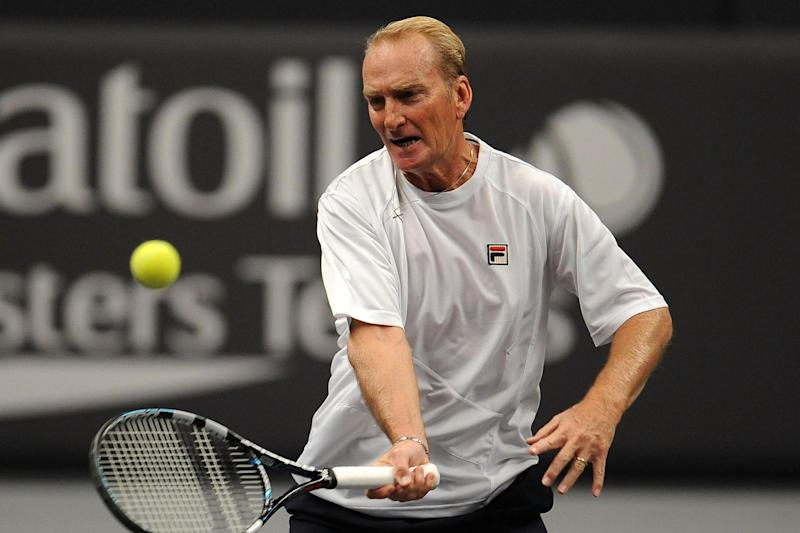 Peter McNamara during match against Mansour Bahrami Andrew Castle at the Statoil Masters Tennis at the Royal Albert Hall in 2012 Photo: Getty Images
