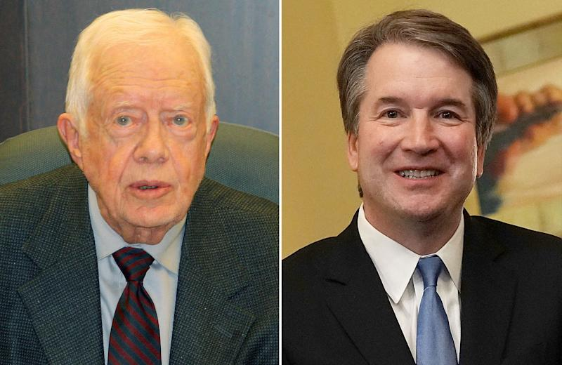 Jimmy Carter Says Brett Kavanaugh Is 'Unfit' for Supreme Court