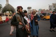 FILE PHOTO: Taliban soldiers are seen in a street in Herat