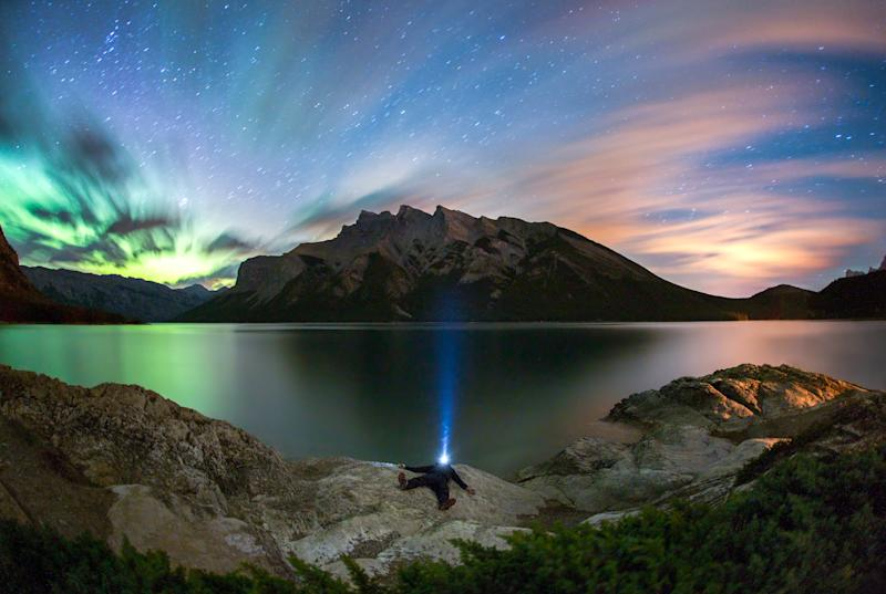 Lake Minnewanka, Banff National Park, Alberta, Canada. (Photo: Paul Zizka/Caters News)