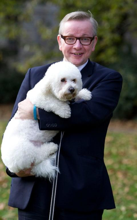 Michael Gove with his dog - Credit: Heathcliff O'Malley/Heathcliff O'Malley