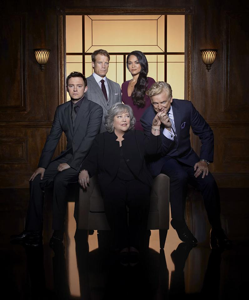 """""""<a href=""""/harry-39-s-law/show/46534"""">Harry's Law</a>"""" — It may be a little early to list this Kathy Bates-led legal drama here, since it's only in its second season. But we were still shocked to see it included on NBC's fall schedule; its ratings are mediocre and it's completely lacking in critical buzz. Maybe NBC just didn't want to make Kathy Bates angry? No one wants to wake up in bed to see her holding a sledgehammer."""