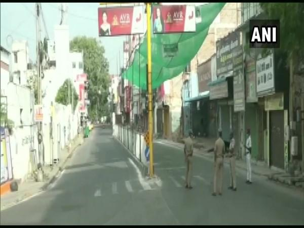 Puducherry observed complete COVID-19 lockdown on Tuesday. (Photo/ANI)