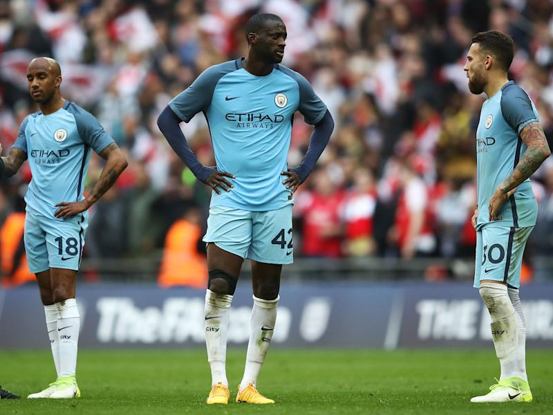 Yaya Toure was left angry with the performance of referee Craig Pawson in the FA Cup semi-final loss to Arsenal: Getty