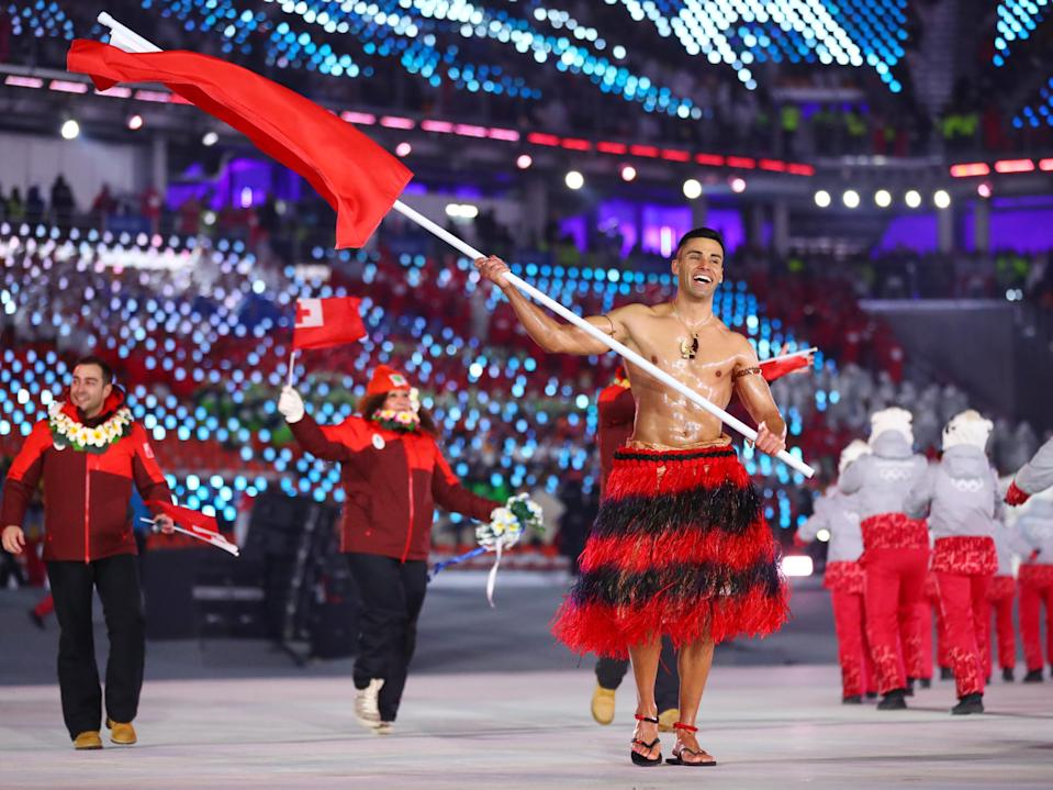 Pita Taufatofua: Taekwondo, Tonga. Perhaps best known as Tonga's shirtless flag-bearer, Taufatofua has competed in both the Summer and Winter Games in recent years and already booked his ticket to Tokyo.