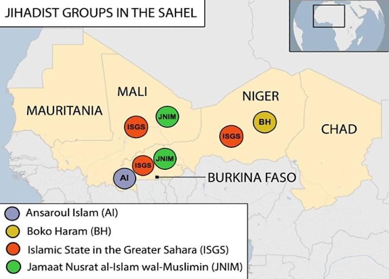 IS and al-Qaeda's JNIM are both active in the Sahel region where they compete for power
