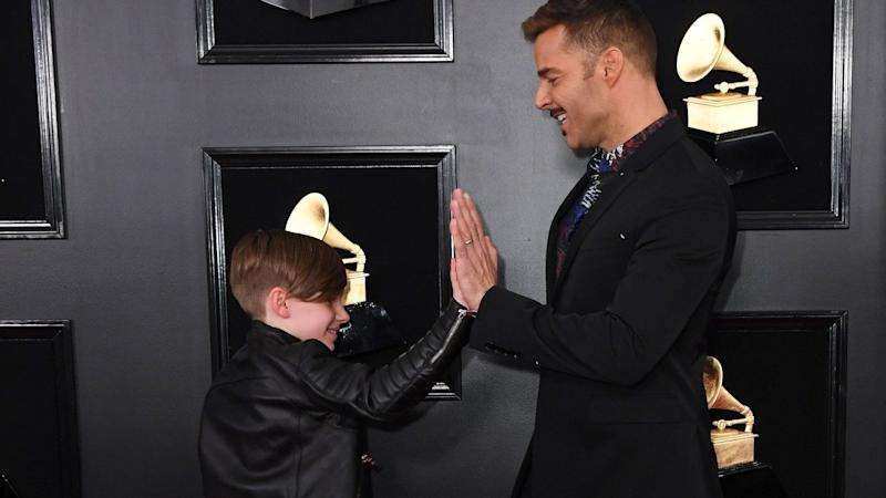 Ricky Martin Showing His Son Around the 2019 GRAMMYs Is the Cutest Thing on the Red Carpet