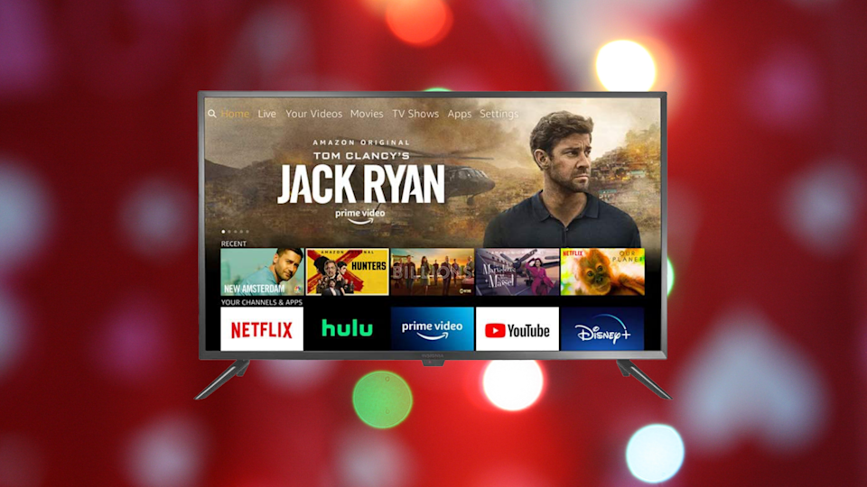 We don't know if you need more John Krasinski in your life...but you definitely need the Insignia 24-inch Smart HD TV.  (Photo: Amazon)