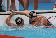 <p>For the first time ever (yep, you read that right) women were able to take part in the 1500m freestyle swimming event at the Olympics. Katie Ledecky and Erica Sullivan won gold and silver for Team USA, Ledecky's sixth career Olympic gold medal. </p>