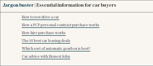 Cars Jargon buster | Essential information for car buyers