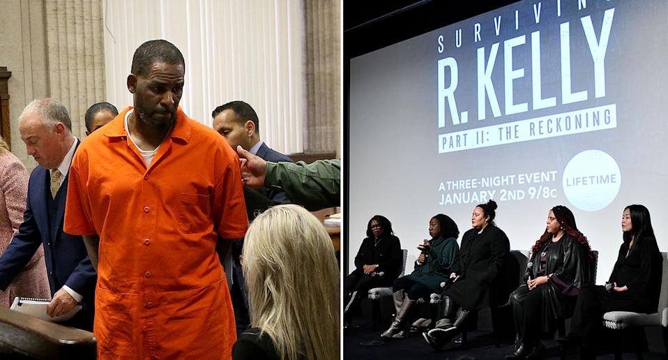 While accusations against R. Kelly began some two decades ago, it was in 2017 that <em>Buzzfeed</em> released a report accusing the rapper of 'trapping six women in a sex cult'. The article prompted more allegations against the artist, while he continued to firmly deny them. In 2019, a documentary 'Surviving R.Kelly' was released and weeks later the star was charged with 10 counts of aggravated criminal sexual abuse. Photos: Getty Images