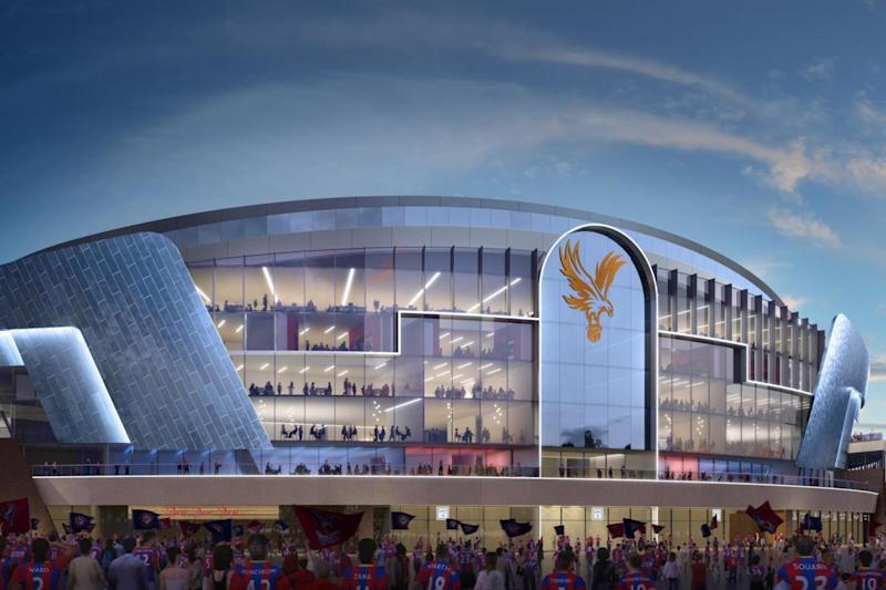 New home: an artist's impression of the stadium which features an all-glazed stand