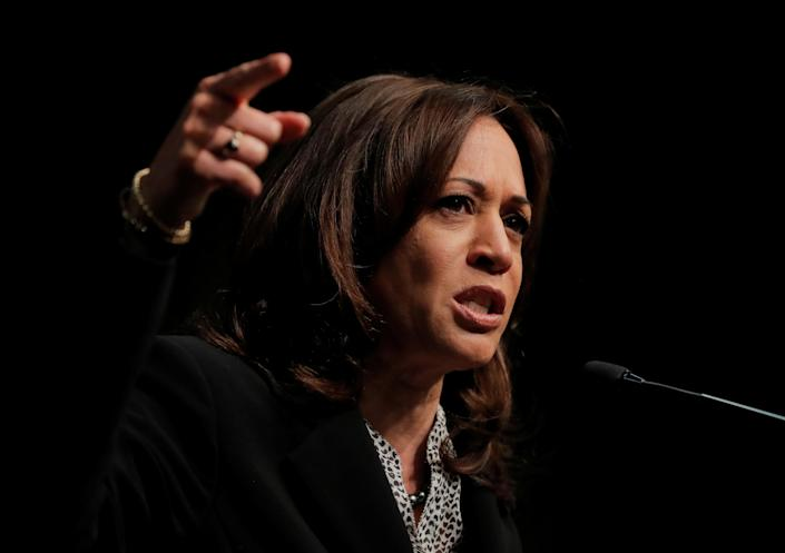 Presidential candidate and California Sen. Kamala Harris speaks at the 2019 National Action Network National Convention in New York. (Photo: Lucas Jackson/Reuters)