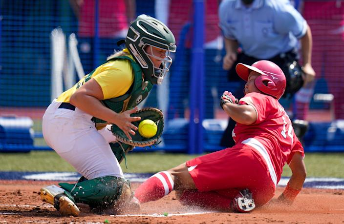 Tokyo 2020 got under way with softball action (AP)
