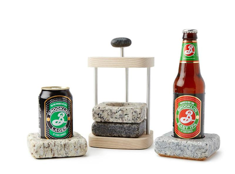 """If you store these granite coasters in your freezer, you can pop them out whenever you're having a cold one, and boom: beer that stays colder longer. Get them <a href=""""https://www.uncommongoods.com/product/beer-chilling-coasters"""" target=""""_blank"""" rel=""""noopener noreferrer"""">at Uncommon Goods</a> for $59."""