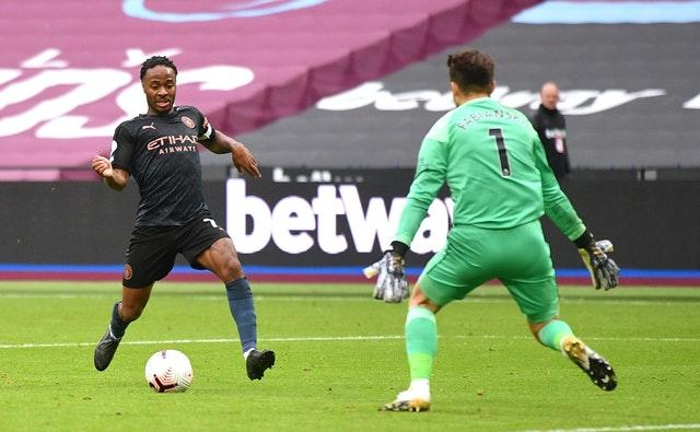 Raheem Sterling fialed to take a late chance to score the winner
