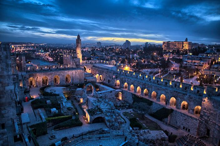 Jerusalem's iconic Citadel (now the Tower of David Museum of the History of Jerusalem)is a fortress with archaeological findings spanning nearly 3,000 years.