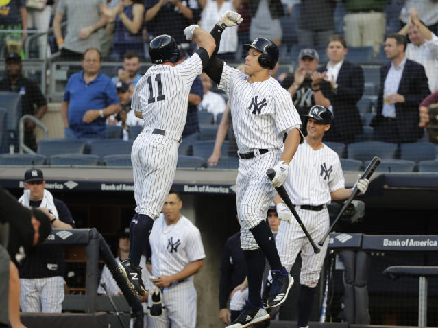 The Yankees ought to celebrate their win over ESPN. (AP Photo/Frank Franklin II)