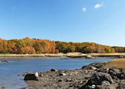 """<p><strong>Best camping in Massachusetts:</strong> Boston Harbor Islands National Recreation Area</p> <p>After a quick ferry ride from <a href=""""https://www.cntraveler.com/destinations/boston?mbid=synd_yahoo_rss"""" rel=""""nofollow noopener"""" target=""""_blank"""" data-ylk=""""slk:Boston,"""" class=""""link rapid-noclick-resp"""">Boston,</a> campers can revel in the wildflowers, tidepools, and sandy shores of the Boston Harbor Islands. They're a history lesson by day, too: Explore Civil War-era Fort Warren, before retreating to a hidden beach campsite on Lovells Island.</p>"""