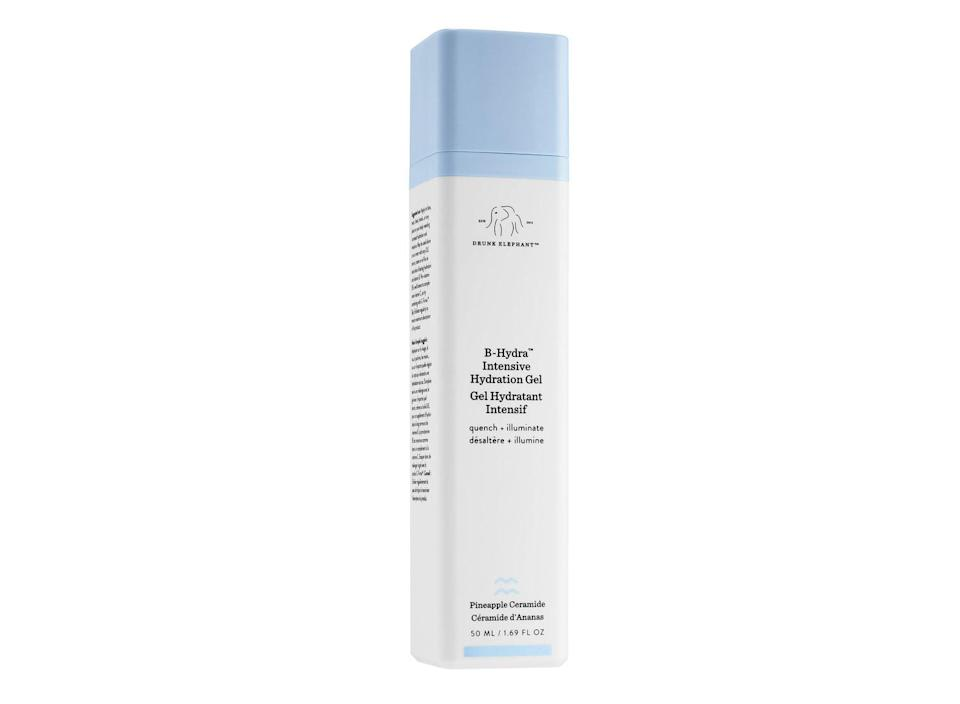 """<p>$52, <a href=""""https://www.drunkelephant.com/collections/pure-water-based-hydration/products/b-hydra-intensive-hydration-gel"""" rel=""""nofollow noopener"""" target=""""_blank"""" data-ylk=""""slk:drunkelephant.com"""" class=""""link rapid-noclick-resp"""">drunkelephant.com</a> </p>"""