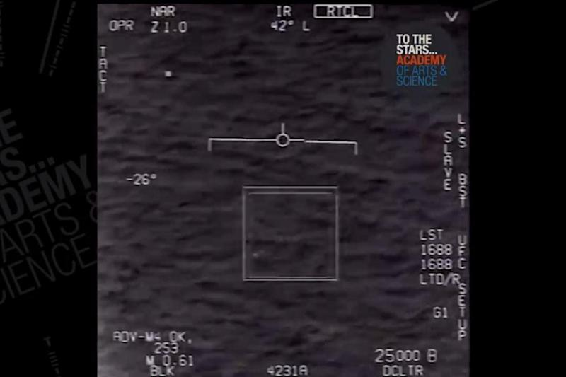 Footage: The video is believed to have been taken from a US Navy craft