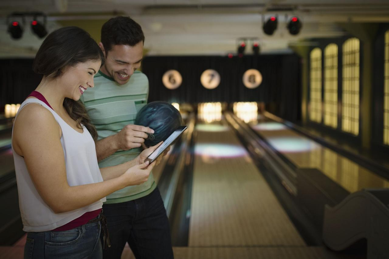<p>A little competition never hurt anyone  -  plus, bowling is just straight-up <em>fun</em>. Some locations are even geared towards adults, serving booze and nicer snacks.</p>