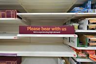 Supermarkets have been unable to keep items in stock