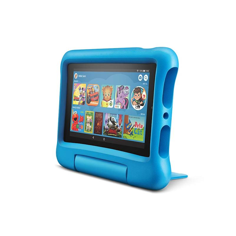 The Fire 7 Kids Edition tablet has 20,000 apps, games, videos and more.