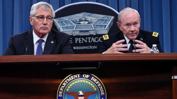 AP pentagon briefing mar 141030 16x9 608 Chuck Hagel and Martin Dempsey Explain Support for 21 Day Quarantine for Troops