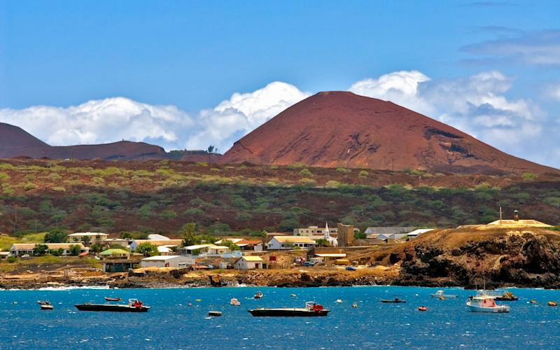 Georgetown the main town on Ascension Island at the African West Coast - Credit: Alamy