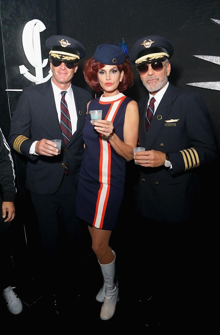 """<p>You and your crew will be looking totally fly if you hit up a party dressed as dashing flight attendants. </p><p><a class=""""link rapid-noclick-resp"""" href=""""https://www.amazon.com/BinaryABC-Stewardess-Attendant-Costume-Accessories/dp/B07BBLX5MS?tag=syn-yahoo-20&ascsubtag=%5Bartid%7C10070.g.3083%5Bsrc%7Cyahoo-us"""" rel=""""nofollow noopener"""" target=""""_blank"""" data-ylk=""""slk:SHOP STEWARDESS HATS"""">SHOP STEWARDESS HATS</a></p>"""