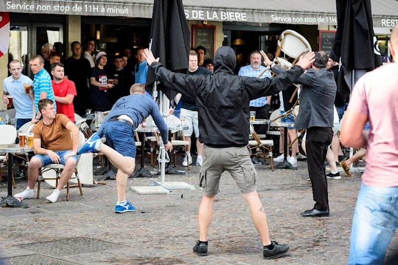 Russian hooligans were keen to grab the crown of world's toughest thugs away from English fans in a series of bloody clashes during the Euro 2016 tournament in France (AFP Photo/LEON NEAL)