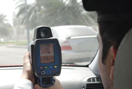 Police patrols gave pursuit and said the man was driving dangerously in the direction of Sharjah.