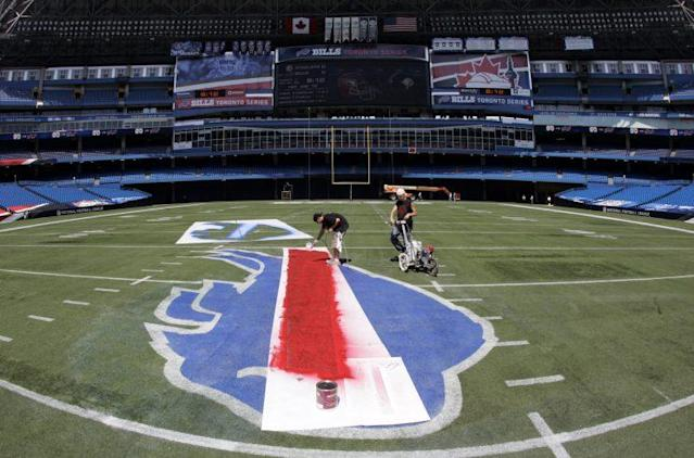"""The <a class=""""link rapid-noclick-resp"""" href=""""/nfl/teams/buf/"""" data-ylk=""""slk:Buffalo Bills"""">Buffalo Bills</a> have hired a new coach and general manager this offseason. (AP)"""