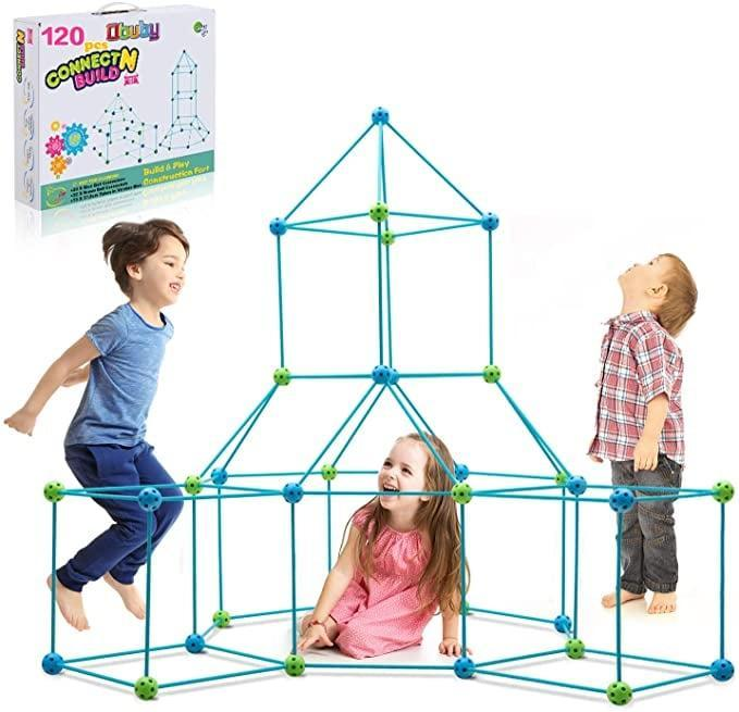 <p>Build the fort of your dreams with the <span>Obuby Kids Construction Fort Building Kit</span> ($52).</p>
