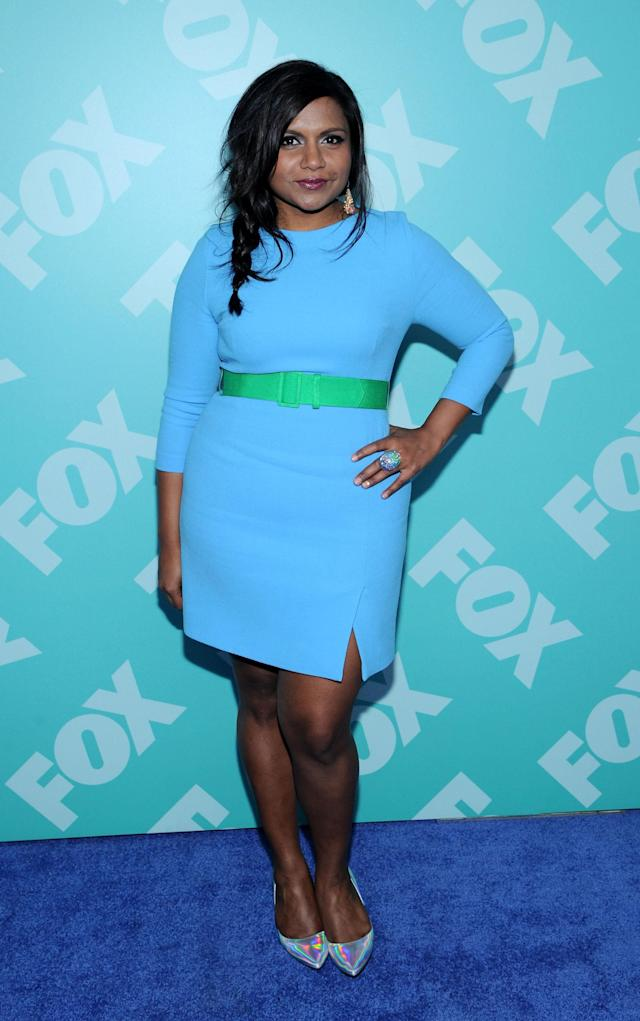 NEW YORK, NY - MAY 13: Mindy Kaling attends FOX 2103 Programming Presentation Post-Party at Wollman Rink - Central Park on May 13, 2013 in New York City. (Photo by Ilya S. Savenok/Getty Images)