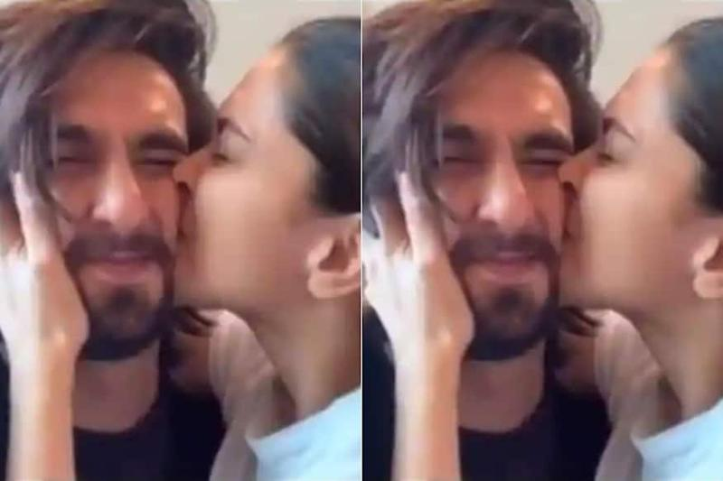 Deepika Padukone Showers Ranveer With Infinite Kisses For Having 'World's Most Squishable Face'