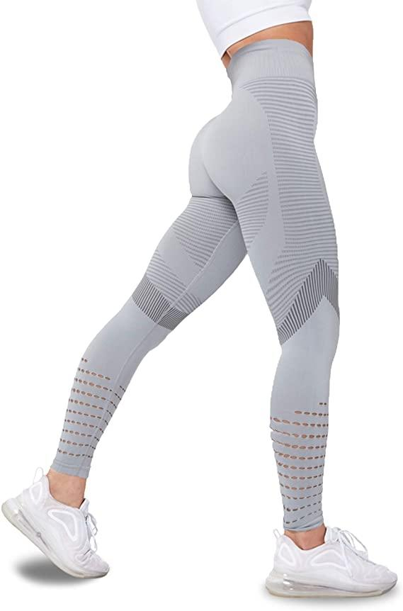 Women's High Waisted Leggings with Mesh. Image via Amazon.