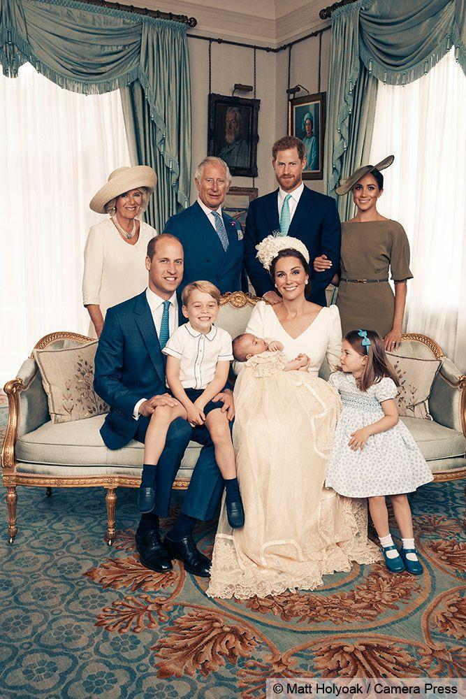 <p>The Cambridges with the Prince of Wales and Duchess of Cornwall, and the new Duke and Duchess of Sussex.</p>