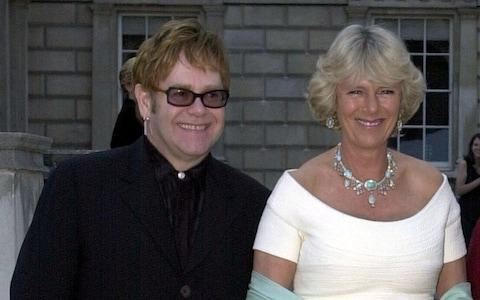 The Duchess of Cornwall and Elton John, pictured here in 2002 - Credit: Matthew Fearn/WPA ROTA