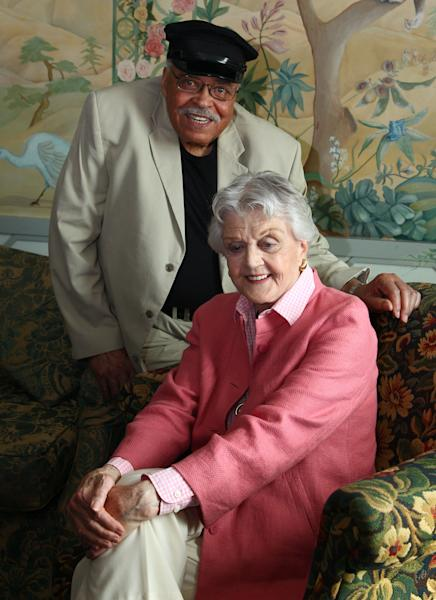 """Actors James Earl Jones, left, and Angela Lansbury pose for photos after discussing their rolls in the play """"Driving Miss Daisy"""" in Sydney, Australia, Monday, Jan. 7, 2013. Jones and Lansbury, in Australia to star in a touring production of Alfred Uhry's Pulitzer-Prize winning play """"Driving Miss Daisy,"""" credit the thrill of performing with their seemingly endless supply of energy, which has propelled them throughout their decades-long careers. (AP Photo/Rick Rycroft)"""