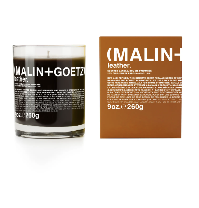"<h2><a href=""https://www.nordstrom.com/s/malingoetz-candle/4601394"" rel=""nofollow noopener"" target=""_blank"" data-ylk=""slk:Leather Scented Candle"" class=""link rapid-noclick-resp"">Leather Scented Candle</a></h2><br>Malin + Goetz has a plethora of delicious smelling candles but this one takes the cake, noted by a new fan: ""I was at a clients house and could not imagine what this smell was. Finding this candle burning in the next room was amazing. It permeates everywhere! The smell is clean, organic, and calming."" <br><br><strong>MALIN+GOETZ</strong> Leather Scented Candle, $, available at <a href=""https://go.skimresources.com/?id=30283X879131&url=https%3A%2F%2Fwww.nordstrom.com%2Fs%2Fmalingoetz-candle%2F4601394"" rel=""nofollow noopener"" target=""_blank"" data-ylk=""slk:Nordstrom"" class=""link rapid-noclick-resp"">Nordstrom</a>"