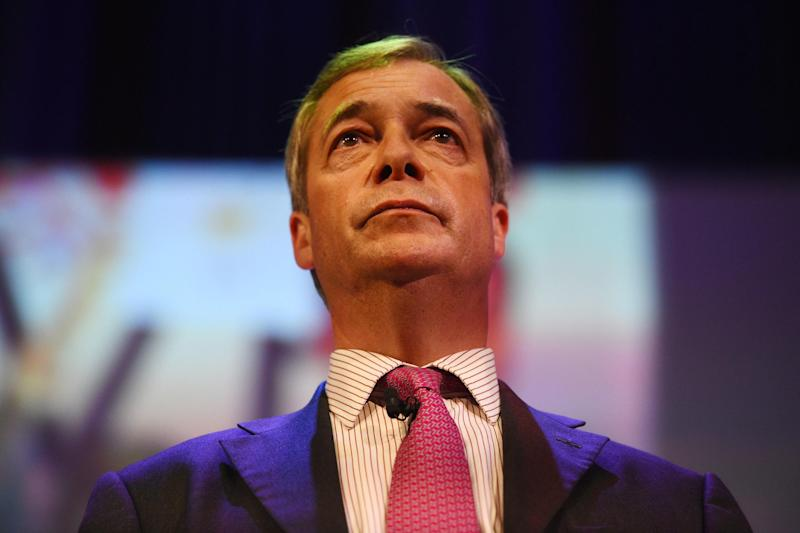 Nigel Farage at a Leave Means Leave rally at Central Hall in London (PA)